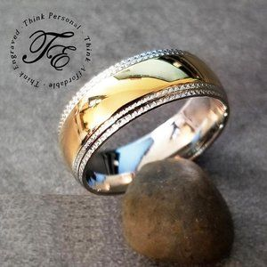 Mens Wedding Band or Promise Ring Gold ip